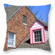 Window In Pink Throw Pillow