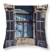 Window In Tel Aviv Throw Pillow