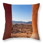 Window Into Joshua Tree National Park Throw Pillow