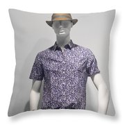 Window Mannequin 5 Throw Pillow