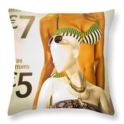 Window Mannequin 6 Throw Pillow