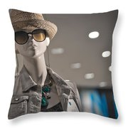 Window Mannequin 7 Throw Pillow