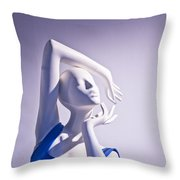 Window Mannequins 3 Throw Pillow