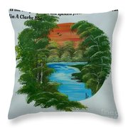 Window Of Peace Quotes Throw Pillow