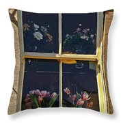 Window Of The Cotswolds Throw Pillow