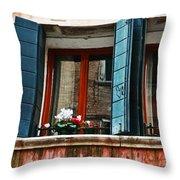 Window Of Venice Throw Pillow