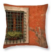 Window Of Vernazza Italy Dsc02633 Throw Pillow