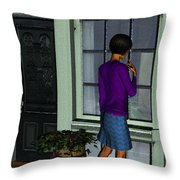 Window Shopper Throw Pillow