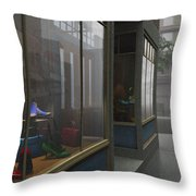 Window Shopping Throw Pillow by Cynthia Decker
