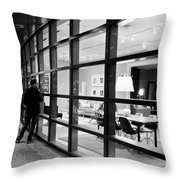 Window Shopping In The Dark Throw Pillow