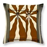 Window Shutter 3 Throw Pillow
