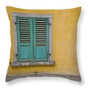 Window Shutter Throw Pillow