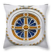 Window St Mary's Church New Orleans Throw Pillow