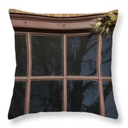 Window Swag In Williamsburg Throw Pillow