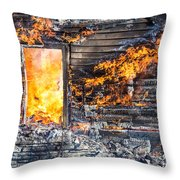 Window Thru The Depth Of Firey Fury Throw Pillow