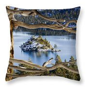 Window To Emerald Bay Throw Pillow