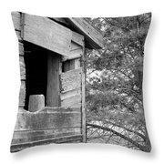 Window To Nowhere - Black And White Throw Pillow