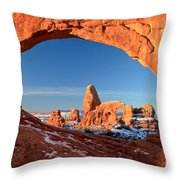 Window To Turret Arch Throw Pillow