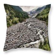 Window Towards The Mountain Throw Pillow