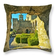 Window View Of Mission Throw Pillow