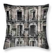 Windows And Balconies 1 Throw Pillow