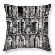 Windows And Balconies 2 Throw Pillow