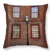 Windows And Brick Throw Pillow