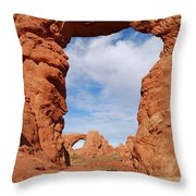 Windows And Turret Arches Throw Pillow