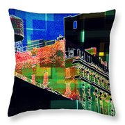 Windows And Watertower Throw Pillow