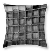Windows Black And White Throw Pillow