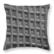 Windows In Black And White Throw Pillow