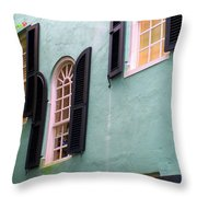 Windows In Charleston Throw Pillow