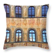 Windows In Florence Throw Pillow