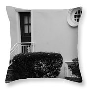 Windows In The Round In Black And White Throw Pillow