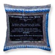 Windows Into The Wild Throw Pillow