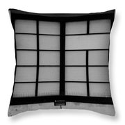 Windows Of Brooklyn In Black And White Throw Pillow