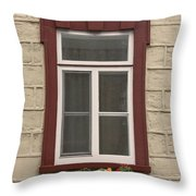 Windows Of Quebec 1 Throw Pillow