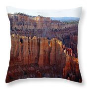 Windows Of Rock Throw Pillow