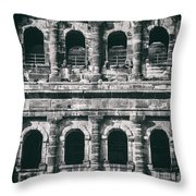 Windows Of The Porta Nigra Throw Pillow