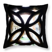 Windows Of Venice View From Palazzo Ducale Throw Pillow