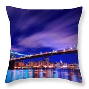 Winds And Lights Throw Pillow