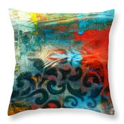 Winds Of Change - Abstract Art Throw Pillow