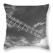 Winds Of Time Black And White Throw Pillow