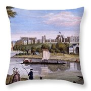 Windsor Castle From Across The Thames Throw Pillow