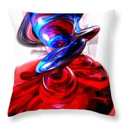 Windstorm Abstract Throw Pillow