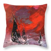 Windsurf Impression 02 Throw Pillow