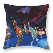 Windsurf Impression 05 Throw Pillow