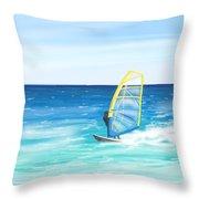 Windsurf Throw Pillow