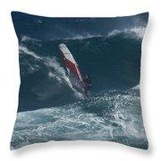 Windsurfer 2 Maui Throw Pillow