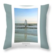 Windsurfing Art Poster - California Collection Throw Pillow